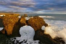 Oceanscapes in winter, Arnastapi