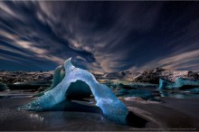 Fjallsarlon Florescent Frozen Blue