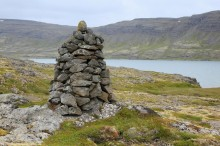 rock,cairn,stone,Iceland,Icelandic,large,tall,marker,route,old,traditional