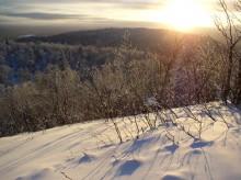 Sunset from on Ishpatina Ridge