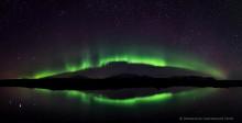 Silfra tectonic crack Aurora reflection