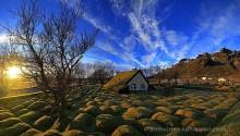 Hofskirkja turf country church, Iceland