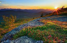 Jay Mountain Range sunset over Whiteface Mt