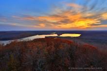 Canada Lake,Kane Mountain firetower,Kane Mt,Kane Mountain,firetower,November sunset,sunset,Canada Lakes,oaks,November