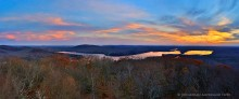180 degree,panorama,Canada Lakes,Canada Lake,West Canada Lake,Kane Mt,firetower,Kane mt firetower,November,sunset,southern Adirondacks,Adirondack Park