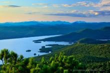 High Peaks to North beyond Lake George