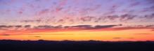 Adirondack skyline sunset from Buck Mt