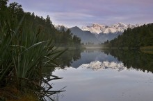 Lake Matheson reflecting Mt. Cook