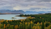 Lake Tekapo,New Zealand,lake,autumn