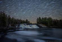 Lampson Falls,Lampsons Falls,Lampson's Falls,Grasse River,Grass River,Grass River Wild Forest,western,western Adirondacks,Clare,Adirondacks,waterfall,Adirondack waterfalls,star trails,night,stars