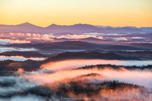 Long Pond Mt,sunrise,August,fog,purple,Whiteface Mt,Adirondack,High Peaks,valley fog,layers,St Regis Wilderness,St Regis,lakes,