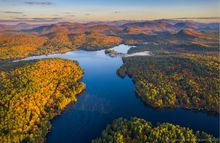 Loon Lake,drone,fall,2019,autumn,panorama,drone panorama,High Peaks,