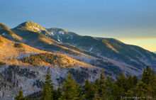 Lower Wolf Jaw Mt from Indian Head in the Ausable Valley