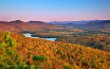 McKenzie Pond,Adirondack Park,Saranac Lake,Baker Mt,treetop,autumn,pond,Johnathan Esper,High Peaks
