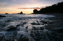 Monroe Beach, West Coast, beach, beaches, New Zealand, sunset, rocks
