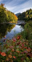vertical panorama,Monument Falls,Ausable River,Whiteface Mt,river,Adirondack river,fall,2019,vertical,Whiteface,