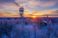 Mt. Arab Firetower in winter sunset light