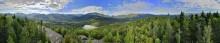 Mt Jo summit 360 degree treetop panorama