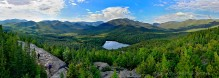 Adirondack Life,Adirondack Park,Adirondacks,Heart Lake,High Peaks,Mt Jo,mountain,treetop,summit,view,summer,hikers,hike,