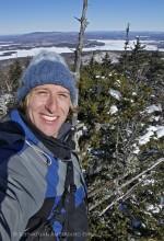 self-portrait from treetop on Mt Morris