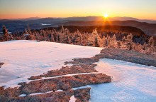 Mt. Morris,Mt Morris,summit,winter,rock,patterns,mirroring,High Peaks,layers,Tupper Lake,Seward Range,High Peaks,mountains,Adirondack,striations,bedrock,sun