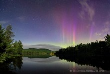 Newberry Pond,Newberry Pond aurora borealis,Aurora Borealis,Northern Lights,Wilmington,town,Adirondack Park,Adirondacks,