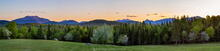 Newcomb viewpoint, town of Newcomb, Newcomb, High Peaks, viewpoint, view, panorama, 2015, spring, Santanoni, profile, High Peaks...