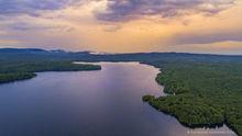 Peck Lake,drone,summer,2019,thunderstorm,