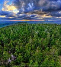 Pillsbury Mt,Pillsbury Mountain,firetower,Pillsbury Mountain Firetower,spring,2015,sunset,clouds,aerial,forest,summit,Johnathan Esper