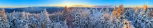 Pitchoff Mt, winter, 360,360 degree,panorama,treetop,Adirondack mountains,High Peaks,High Peaks range,Adirondacks,Cascade,Cascade Mt,