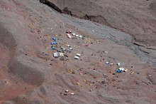 Aerial of a Tent City (Plaza Argentina)
