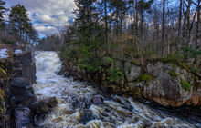 Rainbow Falls on the Grasse River in spring