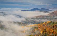 Rattlesnake Mt,Rattlesnake Mountain,Lake Champlain valley,fog,