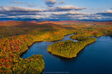 Rich Lake, Newcomb, Rich Lake Newcomb, Rich Lake VIC trails, VIC trails, VIC, Newcomb VIC, drone, aerial, peninsulas, lake, fall...