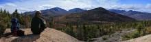 Round Mt hiker enjoying view of Noonmark
