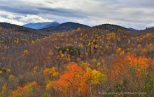 Round Pond,Dix Mt,Dix Mountain,autumn snowfall,fall foliage,yellow larch,aspens,foliage,ledges,