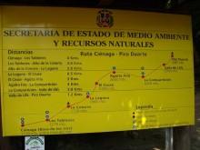 Ruta Cienaga on Pico Duarte sign