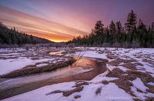 South Pond tributary,South Pond,Blue Mountain,stream,brook,April,springtime,sunrise,