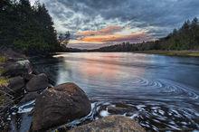 Camp Santanoni,gatehouse,Newcomb,Newcomb Lake,swirl,eddy swirl,May,2016,sunset