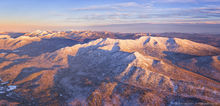 Santanoni Range and Panther, winter aerial panorama 2016
