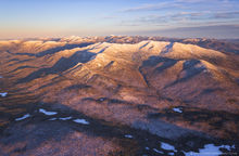Santanoni Range and Panther Pk, winter aerial