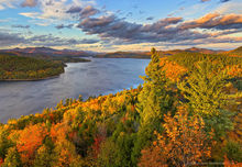 Schroon Lake,treetop,autumn,2015,southeast shoreline,shoreline,lake,Adirondack,lakes,Adirondack Park,