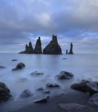 Sea stacks near Myrdal y Vik