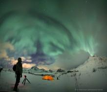 Selfjord Lofoten Norway winter camping