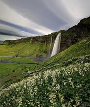Seljalandsfoss, Iceland cloud stripes