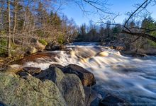 Sinclair Falls on the Grasse River in April