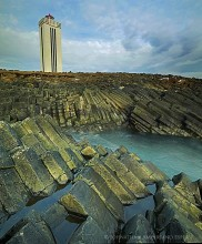 Skagi Peninsula lighthouse basalt column