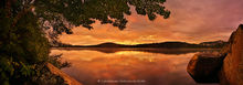 South Pond,orange sunset,orange,summer,lake,panorama,pond,Adirondack Park