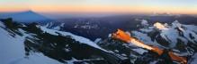 Aconcagua summit sunrise shadow up high