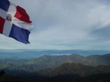 Dominican Republic flag on Pico Duarte